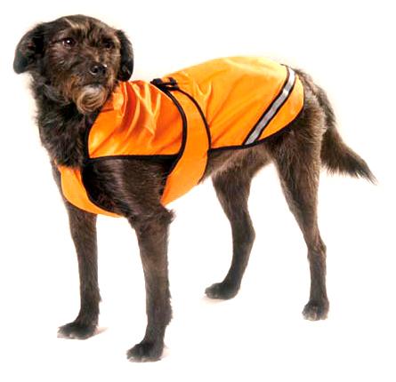 hunde regenmantel reflektierend orange 40cm 44cm 48cm 52cm 56cm 60cm ebay. Black Bedroom Furniture Sets. Home Design Ideas